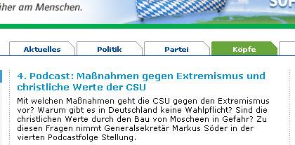 Screenshot CSU