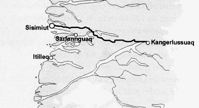 Karte von Mittelgroenland