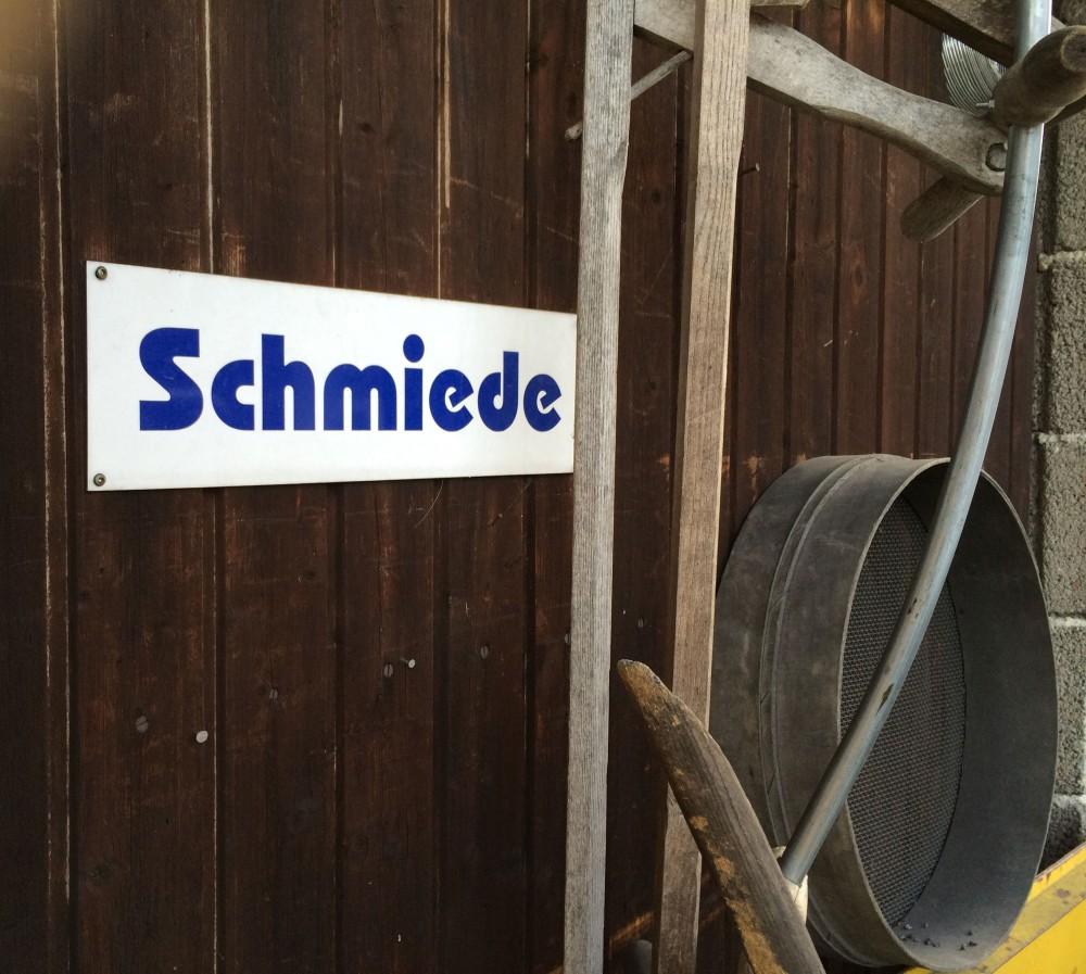 "Schild ""Schmiede"""