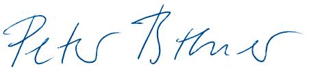 Unterschrift von Peter Breuer