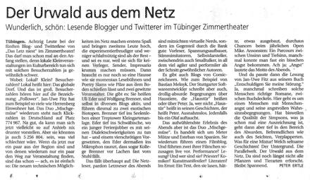 Schwäbisches Tagblatt, 25.5.2011 (mit freundlicher Genehmigung des Autors)