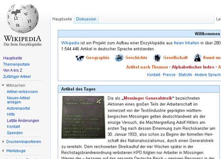 wp-Startseite am 31.1.2013