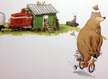"Illustration aus ""Dr. Brumm fährt Zug"""